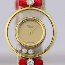Chopard Happy Diamonds Klassiker 18K Gold Lady Quarz Luxus Top