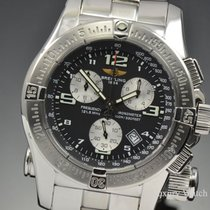 Breitling Emergency Mission SS Quartz Chronograph Black Dial...