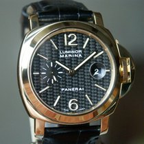 Panerai PAM 140 Yellow Gold Luminor Marina Carbon Dial 44 mm:...