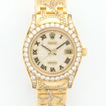 Rolex Midsize Pearlmaster Diamond Yellow Gold Ref. 81158