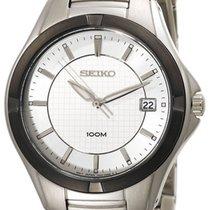 Seiko Dress Stainless Steel Mens Watch Calendar Silver Dial...