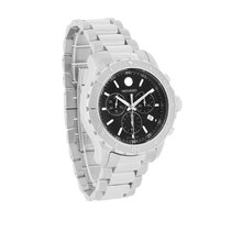 Movado Series 800 Black Dial Quartz Chronograph Mens Watch...