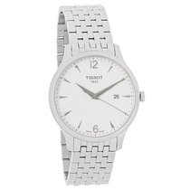 Tissot Tradition Mens White Dial Swiss Quartz Watch T063.610.1...