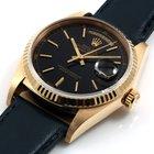 Rolex Mens 18K Yellow Gold President - Black Dial - 18038