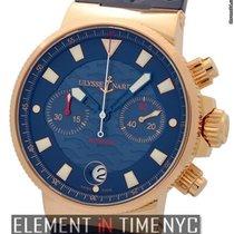 Ulysse Nardin Maxi Marine Blue Seal Chronograph 18k Rose Gold...