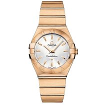 Omega Constellation 18k Rose Gold Silver Dial 123.50.27.60.02....