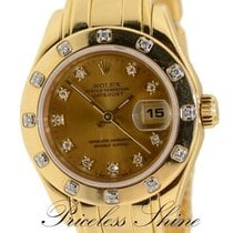 Rolex Datejust Pearlmaster Masterpiece 69318 Solid 18k Yellow...