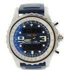 Breitling Chronospace Blue Dial Stainless Steel