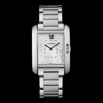Cartier W4TA0004 Tank Anglaise  Diamonds Hour Markers