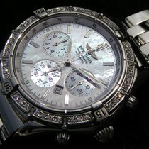 Breitling Shadow Flyback Stahl Perlmutt Mop Nacar Acero Steel