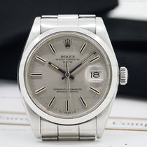 Rolex Oyster Perpetual Date Silver Stick SS/SS
