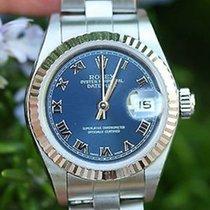 Rolex Ladies Datejust 26mm Stainless Steel 18k White Gold...