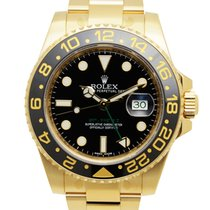 Rolex Gmt-master II 18 K Yellow Gold Black Automatic 116718LN