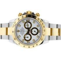 勞力士 (Rolex) Daytona White Diamond Dial Oyster Bracelet Mens Watch