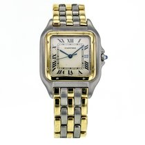 Cartier Panthere Steel And Gold Quartz White Dial Men's...