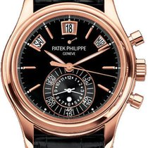 Patek Philippe Complicated Calender Black Dial Brown Leather...