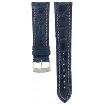 Bros Crocodile Blue For Breitling Models Strap 22mm