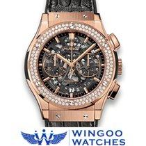 Hublot - Classic Fusion Aero King Gold Diamonds Ref. 525.OX.01...