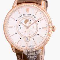Harry Winston Midnight Moon Phase Rose Gold with Diamond Bezel