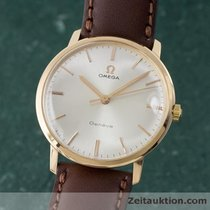 Omega Geneve 18k Rose Gold Herrenuhr Handaufzug Vintage 1968