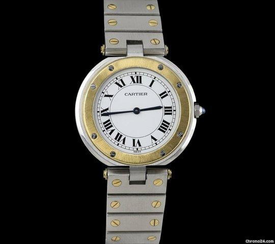 Cartier Santos Ronde Stainless Steel/18k Yellow Gold Men's