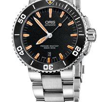 Oris Aquis Date, Black Dial, Steel Bracelet