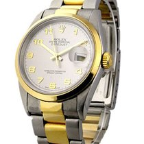 Rolex Used Men's 2 Tone Datejust with Oyster Bracelet 16263