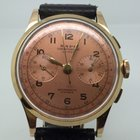 Chronographe Suisse Cie 18K GOLD VERY NICE PINK DIAL