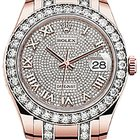 Rolex Pearlmaster 39 86285 Diamond Pave Roman Rose Gold Oyster...