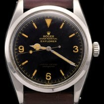Rolex Explorer ref 6610 chapter ring single swiss gilt dial