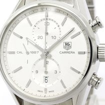 TAG Heuer Polished Tag Heuer Carerra Calibre 1887 Steel...