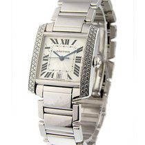 Cartier WE1002SF 2rw Tank Francaise White Gold - Large Size -...