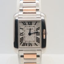 Cartier Tank Anglaise 18k Gold Steel Ref. W5310019  (Box&P...