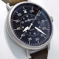 Bell & Ross Vintage Military Ww1-92 Steel Black Dial Mens...
