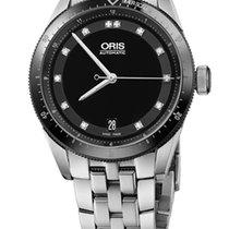 Oris Artix GT Date, Diamonds, Ceramic Top Ring, Steel