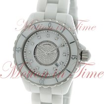 Chanel J12 33mm Quartz, White Diamond Dial - Ceramic on Bracelet