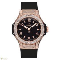 Hublot Big Bang 38mm 18K Rose Gold Black Rubber Ladies Watch