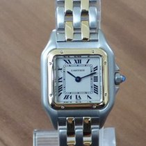 Cartier Panthere Stahl / Gold 2 Streifen revisioniert