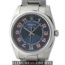 Rolex Air-King Steel 34mm Domed Bezel Blue Concentric Dial M...