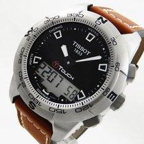Tissot Touch II Alarm Chronograph Saphir GMT Kompass Herren Uhr