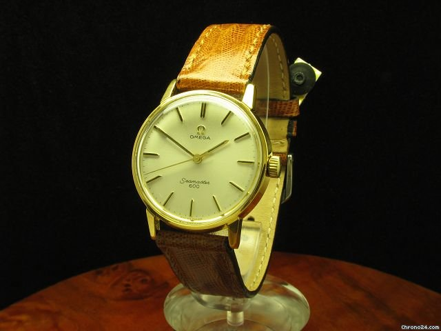 Omega Seamaster 600 Gold Mantel / Edelstahl Handaufzug Herrenuhr Kaliber 601