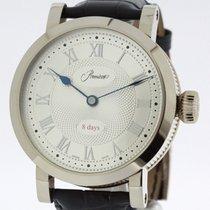 Gübelin PREMIERS Huge solid 18K White Gold Watch E.  Pocket...