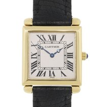 Cartier Tank Obus 1630 18k  Gold on Leather Watch