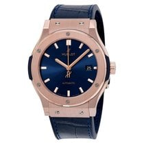 Hublot Classic Fusion Blue Sunray Dial 18k Rose Gold Automatic...