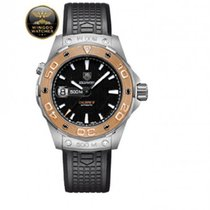 TAG Heuer - AQUARACER 500m AUTOMATIC Caliber 5 - Steel and Gol