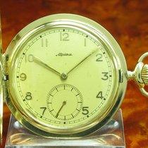 Alpina 14kt 585 Gold Savonette Sprungdeckel Taschenuhr /...