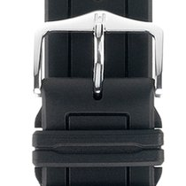 Hirsch Uhrenarmband Hevea schwarz L 40458850-2-18 18mm