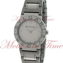 Bulgari Ladies 26mm, Silver Diamond Dial - Stainless Steel on...