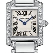 Cartier Tank Francaise 18kt White Gold Diamond Bracelet Ladies...