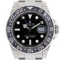 Rolex GMT MASTER II  Black Ceramic Stainless Steel Watch
